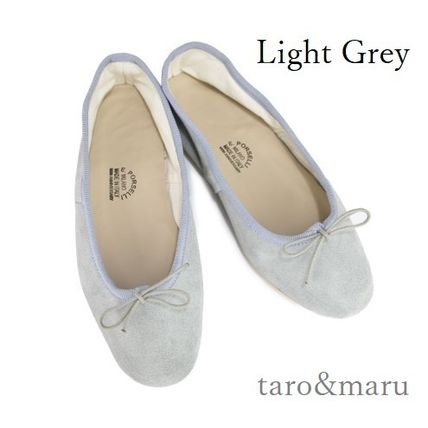 Suede Plain Leather Handmade Ballet Shoes