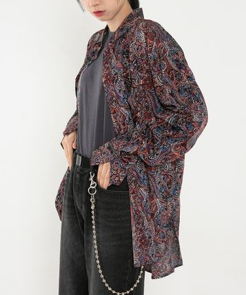 Raucohouse Shirts Paisley Unisex Street Style Collaboration Long Sleeves 2