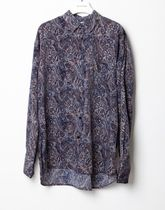 Raucohouse Shirts Paisley Unisex Street Style Collaboration Long Sleeves 8