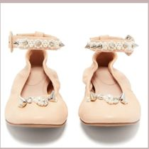 Simone Rocha Round Toe Casual Style Plain Leather Party Style With Jewels