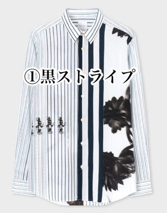 Stripes Dots Unisex Street Style Long Sleeves