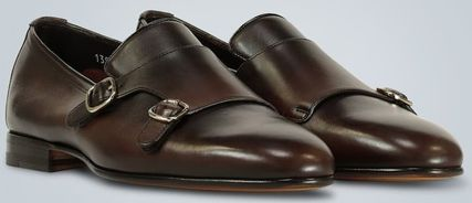 Loafers Street Style Plain Leather Loafers & Slip-ons