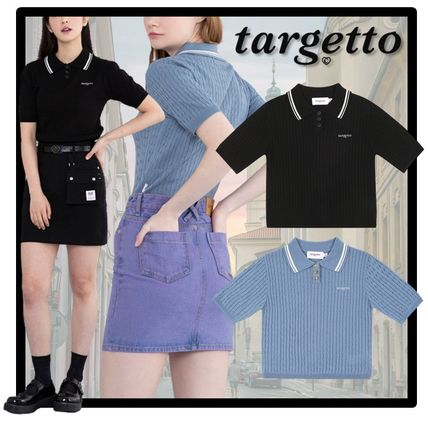 Casual Style Street Style Short Sleeves V-neck & Crew neck