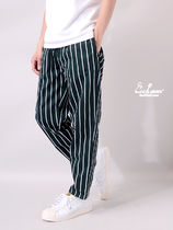 Cookman Printed Pants Stripes Unisex Street Style Patterned Pants