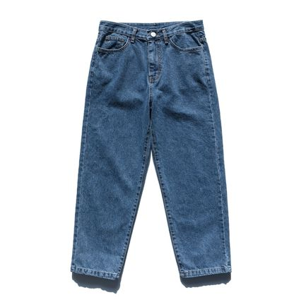 FP142 More Jeans Unisex Street Style Cotton Oversized Jeans 2