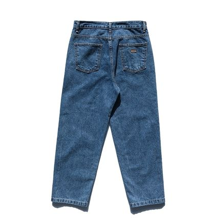 FP142 More Jeans Unisex Street Style Cotton Oversized Jeans 3