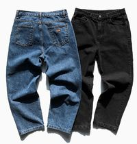 FP142 More Jeans Unisex Street Style Cotton Oversized Jeans 8