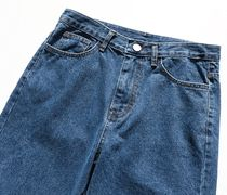 FP142 More Jeans Unisex Street Style Cotton Oversized Jeans 10
