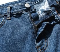 FP142 More Jeans Unisex Street Style Cotton Oversized Jeans 11