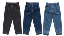 FP142 More Jeans Unisex Street Style Cotton Oversized Jeans 14