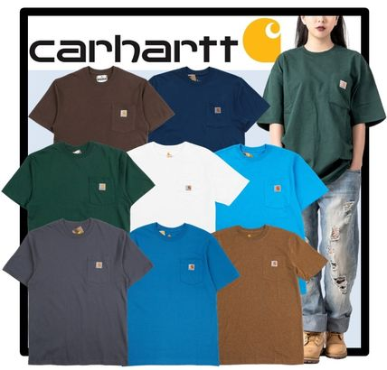 Carhartt Unisex Street Style Short Sleeves T-Shirts