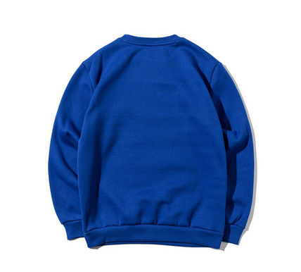 Crew Neck Pullovers Unisex Street Style U-Neck Long Sleeves