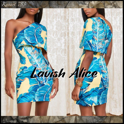 Short Tropical Patterns Tight Party Style Elegant Style