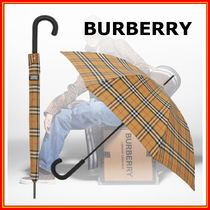 Burberry Other Plaid Patterns Unisex Logo Umbrellas & Rain Goods