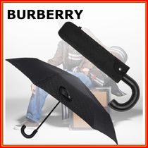 Burberry Monogram Unisex Logo Umbrellas & Rain Goods