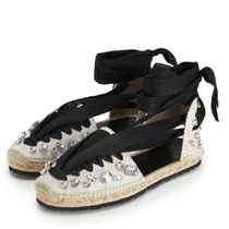 LOEWE Round Toe Casual Style Street Style Plain With Jewels