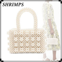 Shrimps Street Style Plain Party Style With Jewels Elegant Style