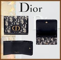 Christian Dior Canvas Folding Wallet Small Wallet Logo Folding Wallets