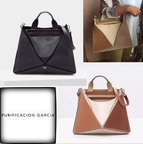 Purificacion Garcia Casual Style 2WAY Plain Leather Office Style Elegant Style