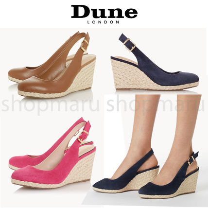 Formal Style  Round Toe Casual Style Suede Plain Party Style