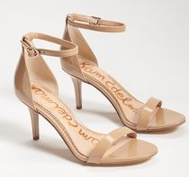 Sam Edelman Open Toe Suede Plain Leather Pin Heels Party Style