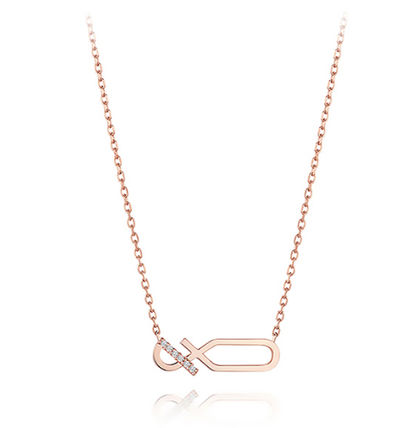 Chain With Jewels Office Style 14K Gold Elegant Style