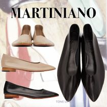 MARTINIANO Casual Style Plain Leather Party Style Office Style