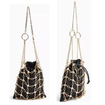 TOPSHOP Casual Style Chain Party Style Purses Crossbody Bucket Bags