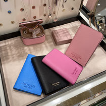 kate spade new york Plain Leather Card Holders