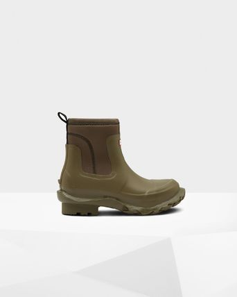 HUNTER Street Style Collaboration Logo Boots Boots