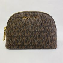 Michael Kors Monogram Leather Logo Pouches & Cosmetic Bags