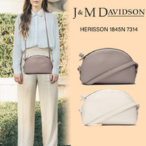 J & M Davidson Casual Style Unisex Calfskin Vanity Bags 2WAY Chain Plain
