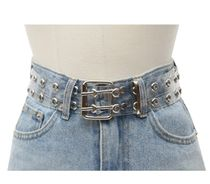 OPEN THE DOOR Casual Style Unisex Street Style Leather Party Style Belts