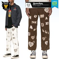 HUMAN MADE Printed Pants Unisex Linen Street Style Patterned Pants