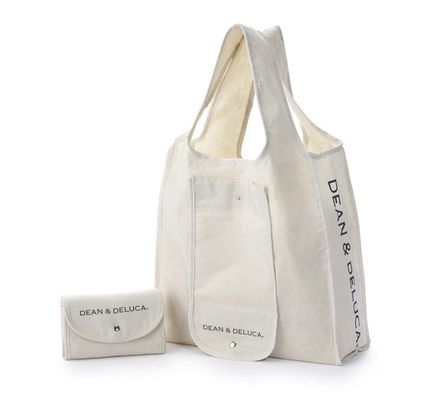 Casual Style Unisex Logo Totes