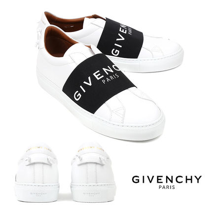 GIVENCHY Unisex Street Style Leather Logo Sneakers