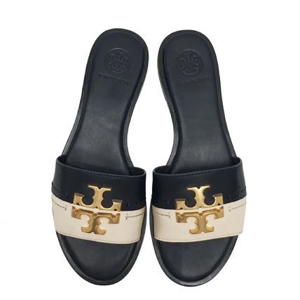 Tory Burch Open Toe Casual Style Plain Leather Sandals