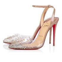 Christian Louboutin Casual Style PVC Clothing Logo High Heel Pumps & Mules