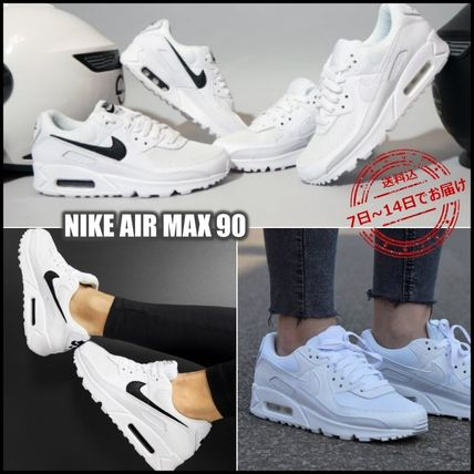 Nike AIR MAX 90 Logo Unisex Street Style Low-Top Sneakers