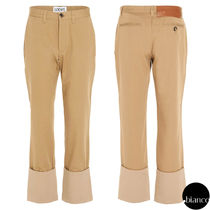 LOEWE Plain Cotton Logo Cropped Pants
