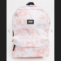 VANS Casual Style Street Style Logo Neon Color Backpacks