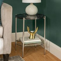 Blended Fabrics Gold Furniture Night Stands Table & Chair