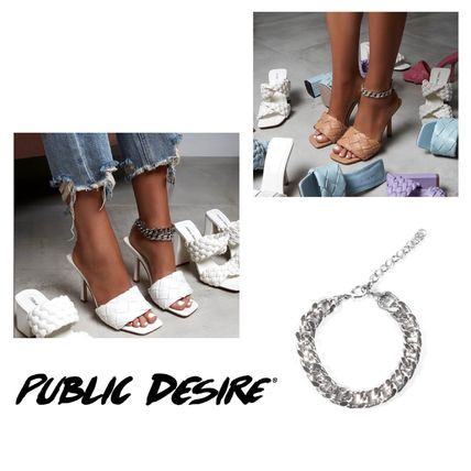 PUBLIC DESIRE Party Style Silver Elegant Style Formal Style  Anklets