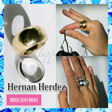 Casual Style Unisex Silver Brass 18K Gold Elegant Style