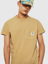 DIESEL Street Style Plain Cotton Short Sleeves Logo T-Shirts