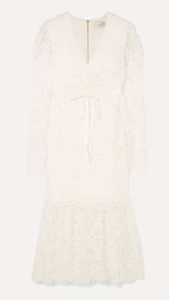 Tight Flared Long Sleeves Medium Party Style Lace