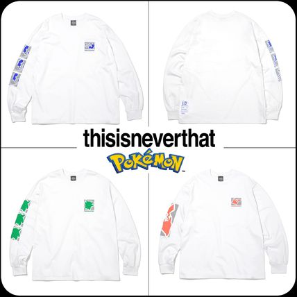 thisisneverthat Long Sleeve Unisex Street Style Collaboration Long Sleeves Cotton