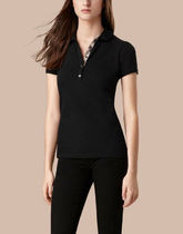 Burberry Casual Style Cotton Medium Short Sleeves Office Style