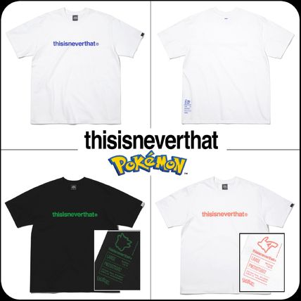 thisisneverthat More T-Shirts Unisex Street Style Collaboration Cotton Short Sleeves Logo