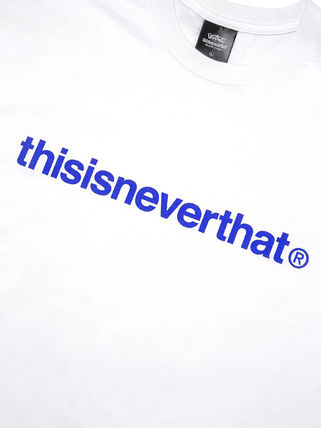 thisisneverthat More T-Shirts Unisex Street Style Collaboration Cotton Short Sleeves Logo 5